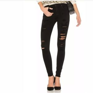 Agolde Size 28 Sophie High Rise Skinny Jeans Black